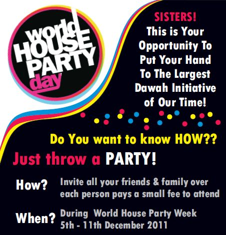 Upcoming Event: World House Party Week  – Join the Dawah Iniative