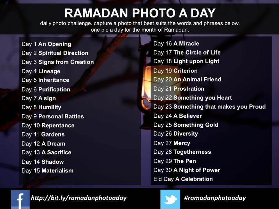 Ramadan Photo a Day 2012