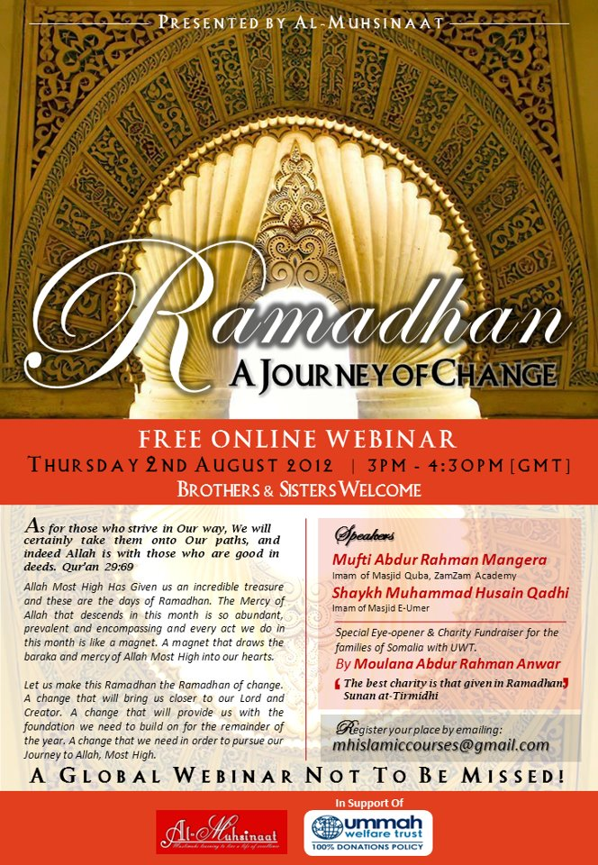 Webinar: Ramadan. A Journey of Change