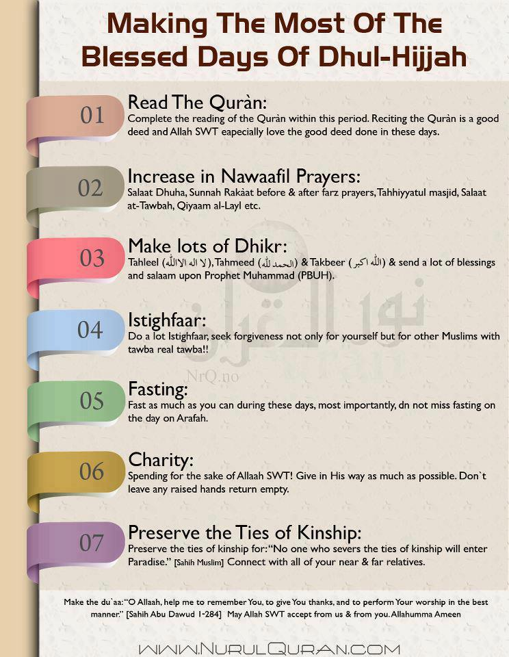 Maximise the 10 Days of Dhul-Hijjah