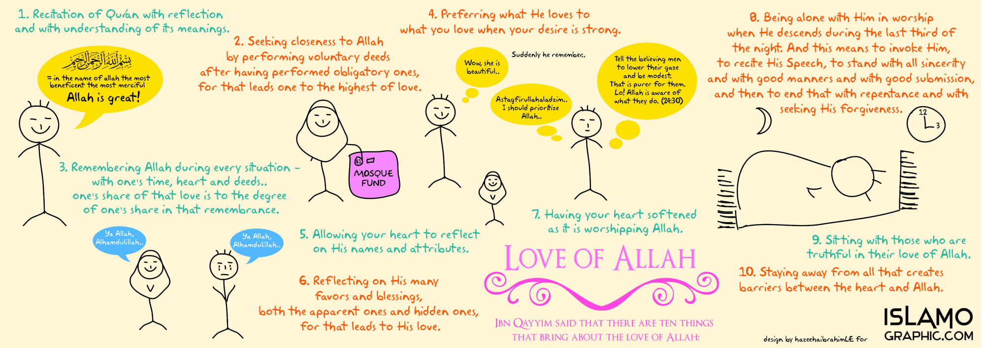 10 Things That Bring About the Love of ALLAH!