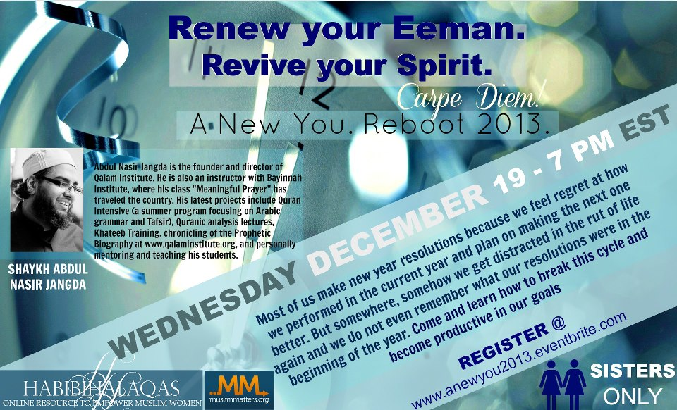 Free Webinar: Renew your Eeman (sisters only)