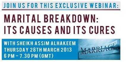 Webinar: Marital Breakdown Causes & Cures