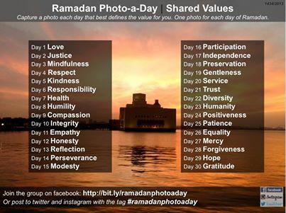 Ramadan Photo a Day Challenge 2013