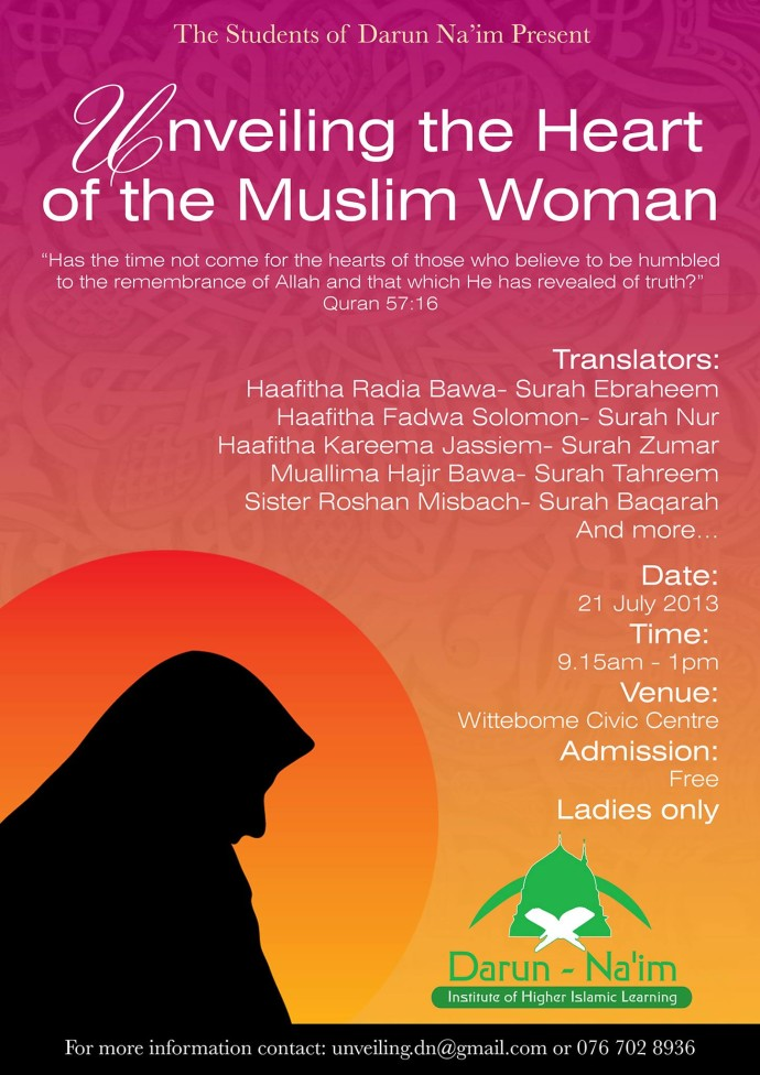 Seminar: Unveiling the Heart of the Muslim Woman