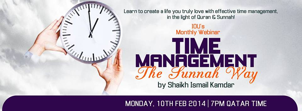 Free Webinar: Time Management the Sunnah Way