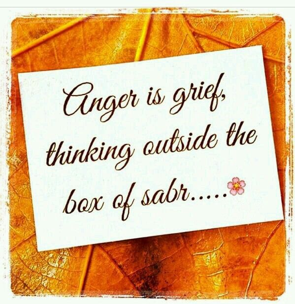 Anger is Grief