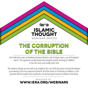 Webinar : The Corruption of The Bible