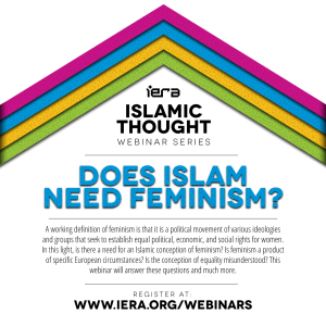 Webinar: Does Islam Need Feminism?