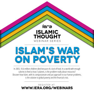 Webinar: Islam's War on Poverty