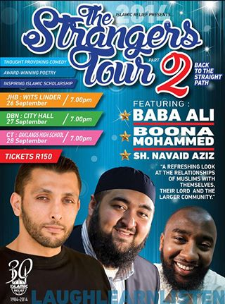 Strangers Tour 2 Halaal Comedy South African  September 2014