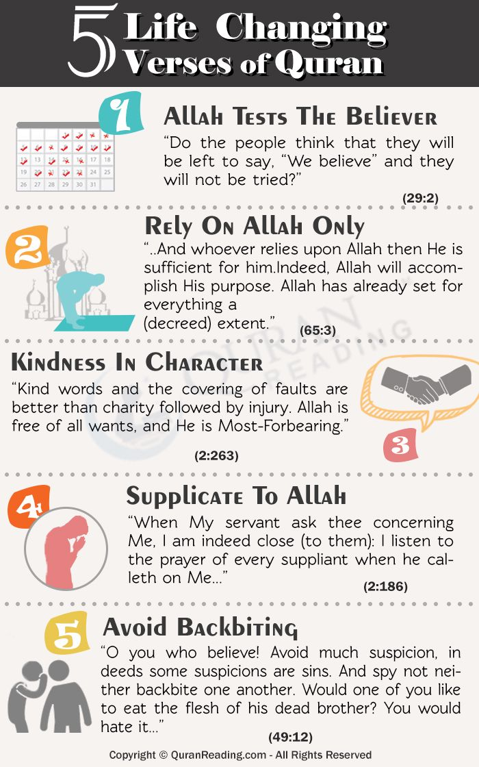 5 Life Changing Verses of the Quraan