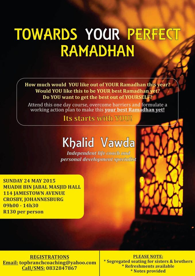 JHB: Towards your Perfect Ramadhan