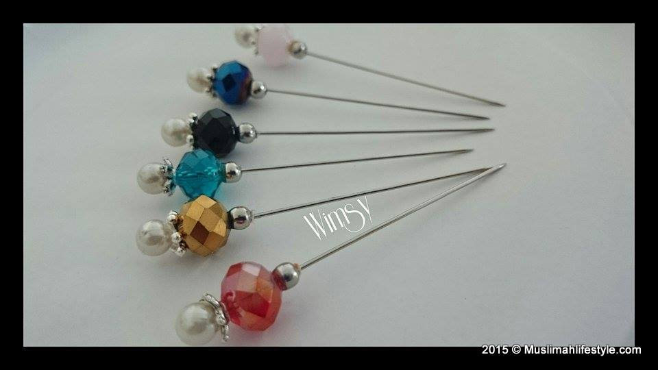 Wimsy long pin with big Czech bead |www.muslimahlifestyle.com