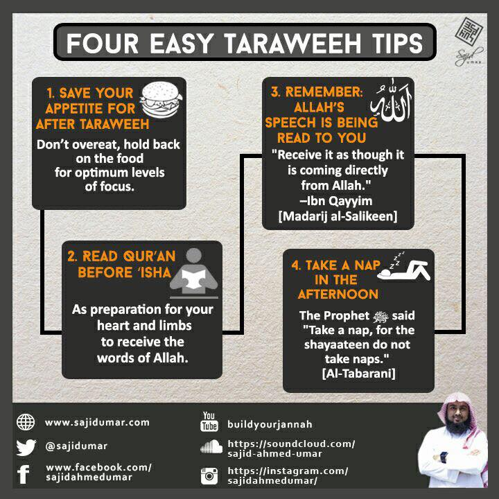 4 Easy Taraweeh Tips