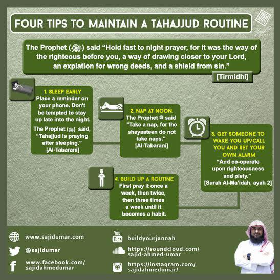 4 Tips for Maintaining a Tahajjud Routine