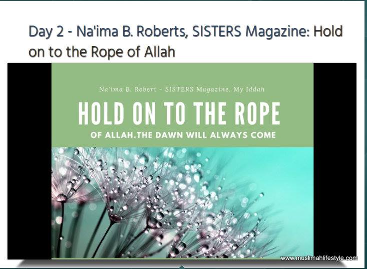 Healthy Muslimah Summit: Hold on to the Rope of Allah