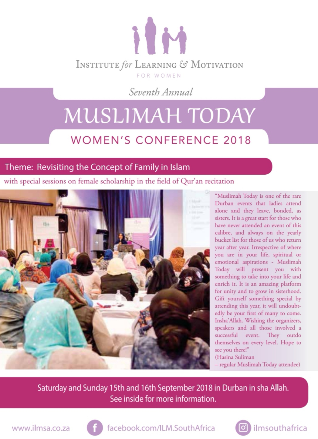 DBN: Muslimah Today 2018