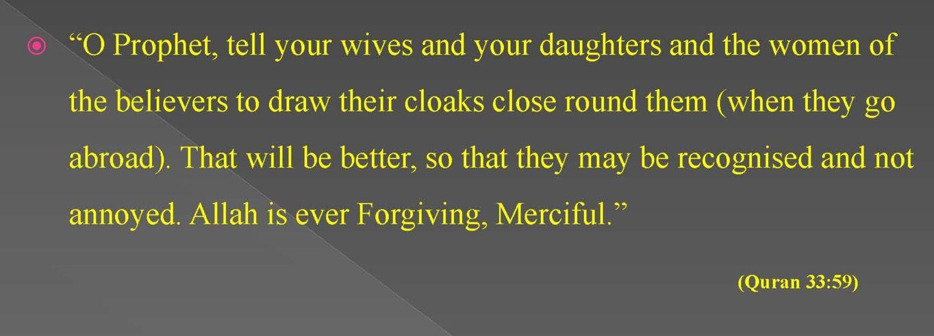 Quraanic Verses on Hijab