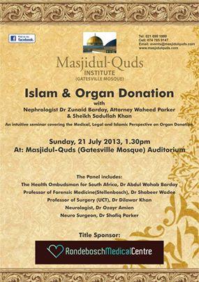Seminar: Islam & Organ Donation