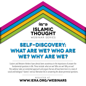 Webinar: Self-Discovery: What are we? Who are we? Why are we?