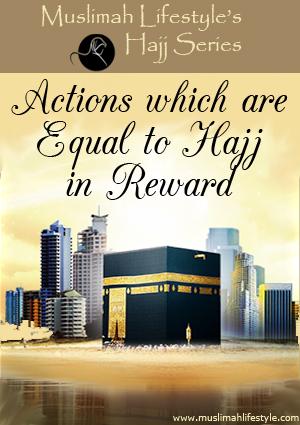 Actions equal to Hajj reward