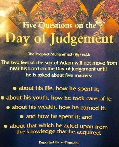 5 Questions on the Day of Judgement