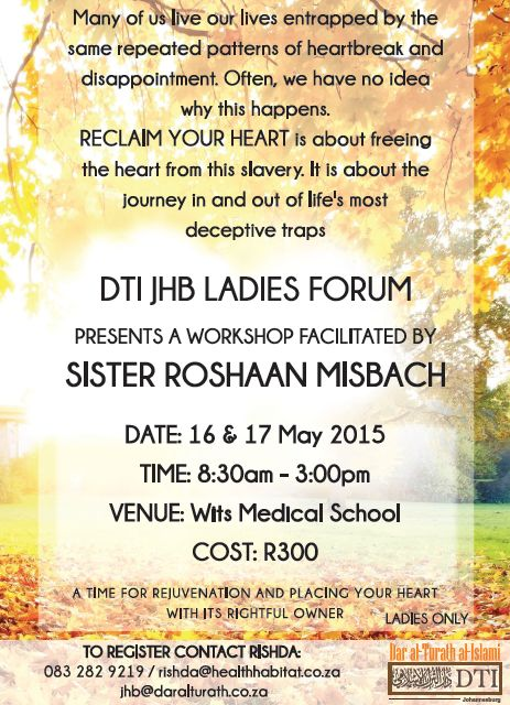 JHB: Reclaim your Heart Workshop