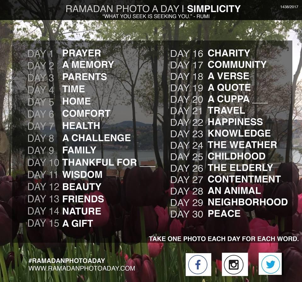 Ramadan Photo A Day Challenge 2017