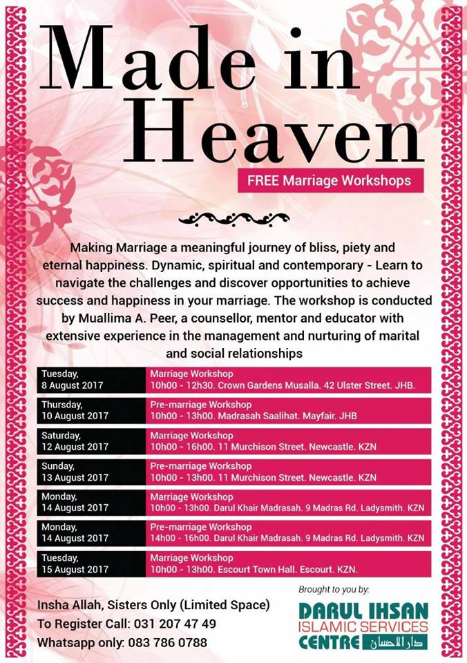 Free Marriage workshop – Ladies ONLY