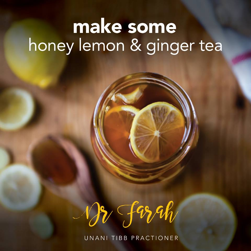 Make some Honey Lemon & Ginger tea